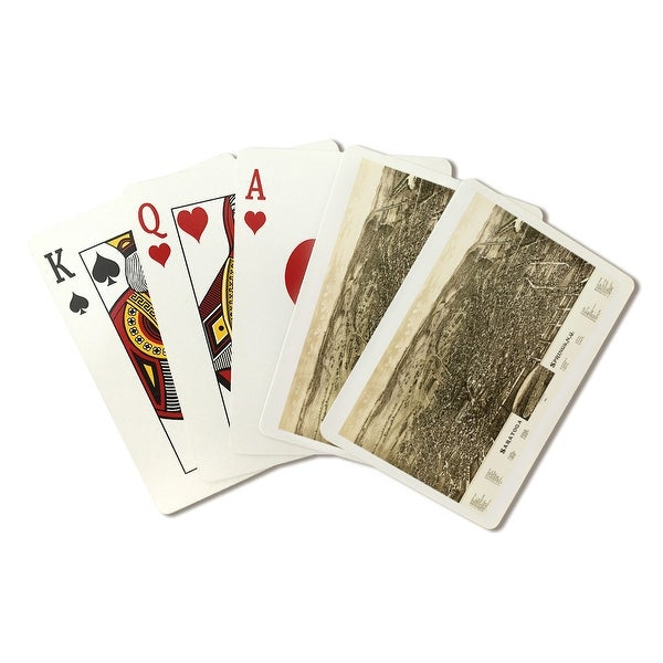 Saratoga Springs, NY - (1888) - Panoramic Map (Poker Playing Cards Deck)