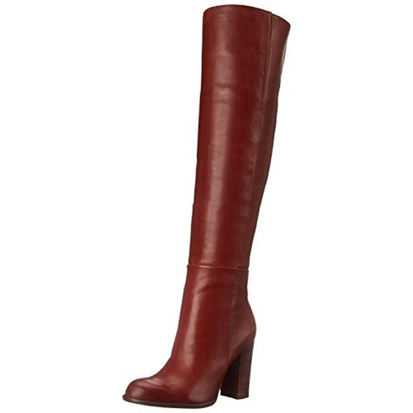 011da04c7cce Shop Sam Edelman Womens Rylan Over-The-Knee Boots Leather Chunky ...