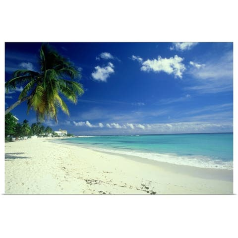 """Beach scene, Barbados"" Poster Print"