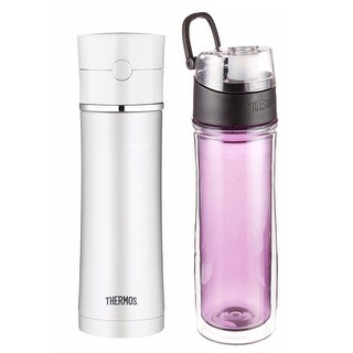 Thermos 18oz Stainless Steel and 18oz DBL Tritan Hydration Bottle - Purple