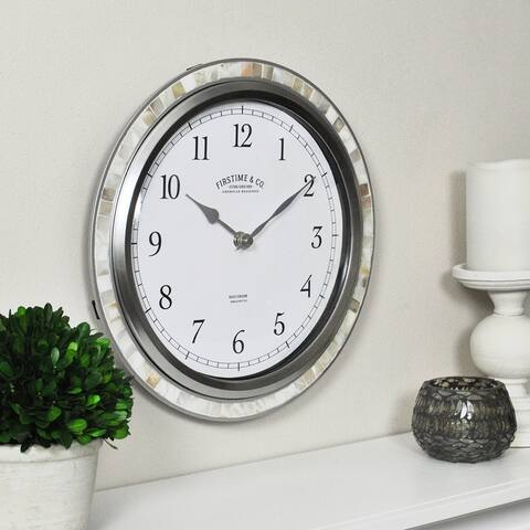 FirsTime & Co. Sophia Mosaic Wall Clock, American Crafted, Sandstone Mosaic, Plastic, 11.5 x 2 x 11.5 in - 11.5 x 2 x 11.5 in