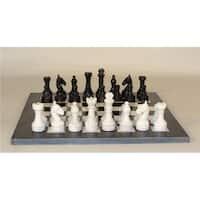 Worldwise Imports 96616BW Black And White Marble Chess Set