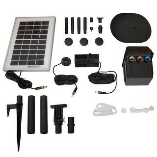 Sunnydaze Solar Pump & Panel Kit With Battery Pack & LED - 79 GPH 47 Inch Lift
