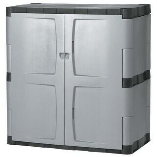 Rubbermaid FG708500  2 Door Free Standing Garage Storage Cabinet - Mica / Charcoal