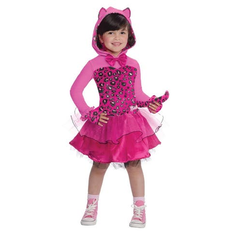 Pink and Black Barbie Kitty Girl Child Halloween Costume - Small