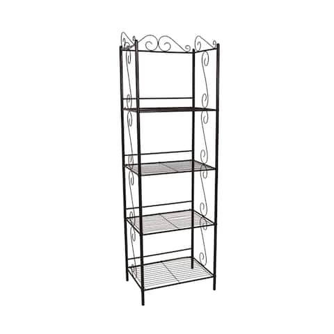 """Offex Bookcase 70""""H - Copper Metal Etagere"""