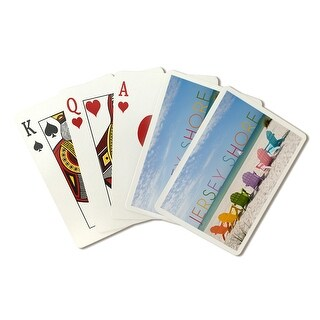 Jersey Shore - Colorful Chairs - LP Photography (Poker Playing Cards Deck)