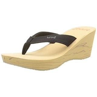 Reef Womens Reefwood II Wedge Sandals Thong Slide