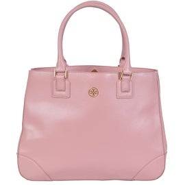 Tory Burch Pink Saffiano Leather Robinson East West Purse Tote