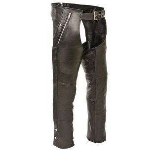 Mens Leather Hip Set 4 Pocket Chaps - Snap Out Liner