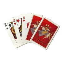Chocolate Lait Suchard Milka Cappiello Vintage Ad (Poker Playing Cards Deck)