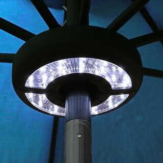 Sunnydaze Patio Umbrella LED Light - Black