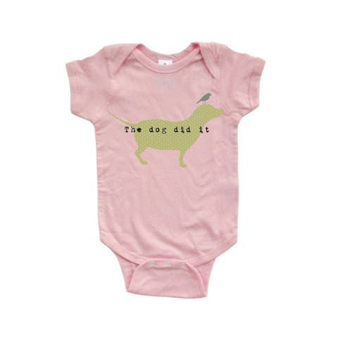 """Apericots Funny """"The Dog Did It"""" Soft Baby Bodysuit with Cute Doggie Print Design"""
