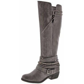 Not Rated Odessa Women's Strappy Studded Riding Boots