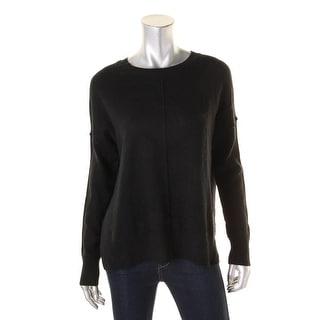 Aqua Womens Pullover Top Solid Cashmere - xs