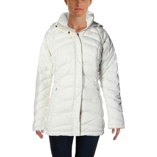 The North Face Womens Quilted Long Sleeves Puffer Coat - M