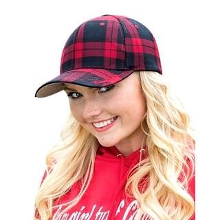 Cowgirl Tuff Western Hat Women Plaid Cap FlexFit One Size Black S00761