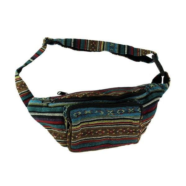 d67a88b48da Shop Boho Festival Tribal Stripe Cotton waist Pack - On Sale - Free ...