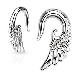 Surgical Steel Angelic Wing Hanging Taper (Sold Individually)