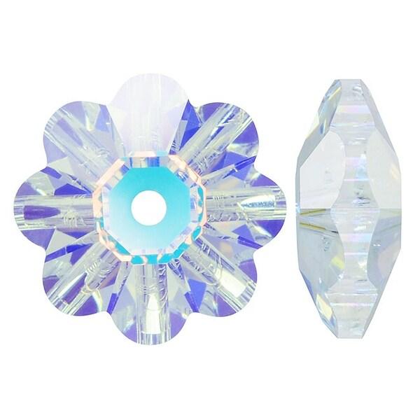 Swarovski Elements Crystal, 3700 Flower Margarita Beads 6mm, 12 Pieces, Crystal AB