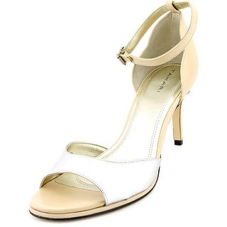 Tahari Gea Open-Toe Leather Heels