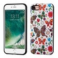 Insten Purple/ White Butterfly Wonderland Hard Snap-on Dual Layer Hybrid Case Cover For Apple iPhone 7 - Thumbnail 0