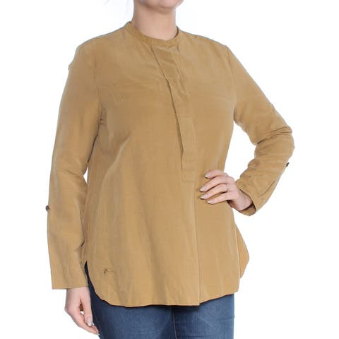 LACOSTE Womens Brown Long Sleeve Top Size: L