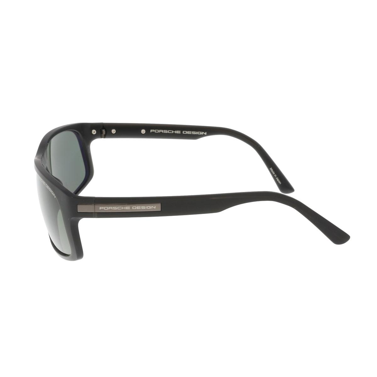 31d4c9ce3823 Shop Porsche P8572-A Black Rectangle Sunglasses - 64-14-135 - Free Shipping  Today - Overstock - 19833200