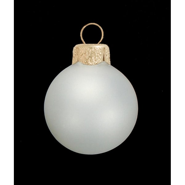 """6ct Clear Frost Glass Ball Christmas Ornaments 4"""" (100mm) - WHITE"""