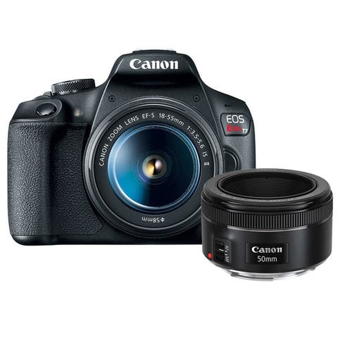 Canon EOS Rebel T7 DSLR Camera with 18-55mm and EF 50mm f/1.8 STM Lens