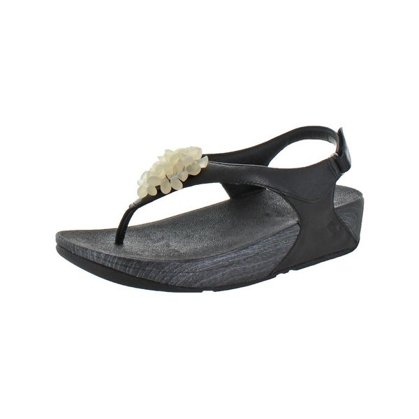 f1780323de766 Fitflop Womens Blossom II Slingback Sandals Leather Embellished - 11 Medium  (B