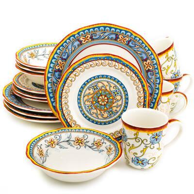 Euro Ceramica Duomo 16 Piece Stoneware Dinnerware Set (Service for 4)
