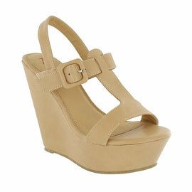 Red Circle Footwear Bounce Large Double Strap Wedge