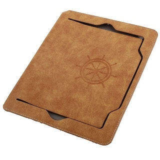 Faux Leather Handheld Smart Stand Protective Case Pale Orange for iPad Air 2
