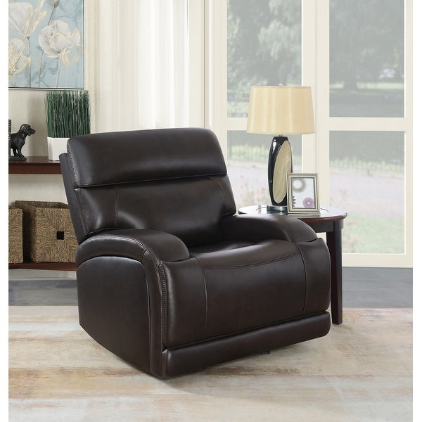 Marcelle Upholstered Power Glider Recliner. Opens flyout.