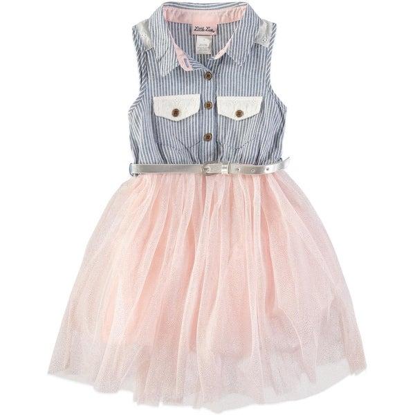 435d882bbc Little Lass Girls 4-6x Sleeveless Tulle Dress - Pink