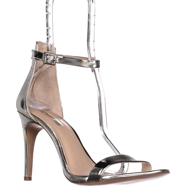 I35 Roriee Ankle Strap Dress Sandals, Pale Silver