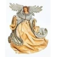 """7.75"""" Have Faith Ornate Silver Flying Angel Christmas Ornament"""