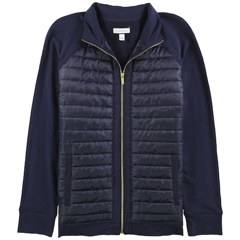 Charter Club Womens Quilted Zip-Front Jacket