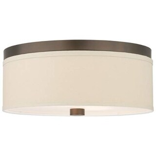 "Forecast Lighting F131820U 2 Light 15"" Wide Flush Mount Ceiling Fixture from the Embarcadero Collection - sorrel bronze"