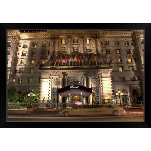 """The Fairmont Hotel, San Francisco"" Black Framed Print"