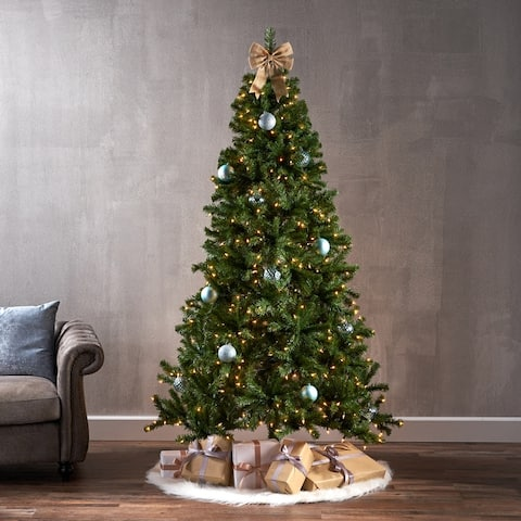 7-foot Noble Fir Hinged Artificial Christmas Tree by Christopher Knight Home
