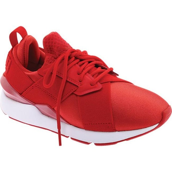 red puma sneakers womens