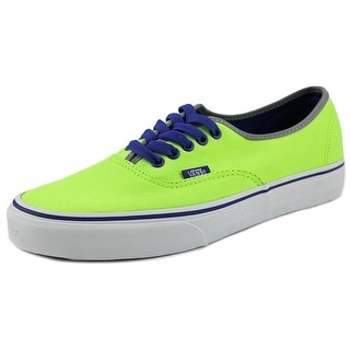 Vans Authentic Men  Round Toe Canvas Green Skate Shoe