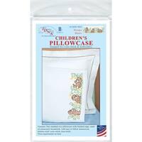 Children's Stamped Pillowcase W/White Perle Edge 1/Pkg-Sleepy Bears