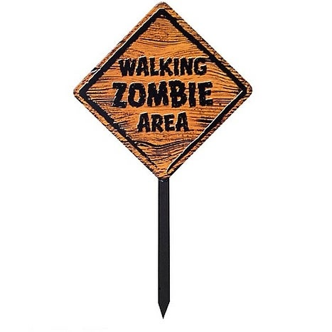 Zombie Warning Sign Prop