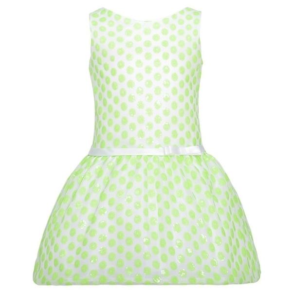 Sweet Kids White Lime Green Flower Bow Easter Dress Toddler Girls 2T-3T
