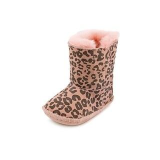 Ugg Australia I Cassie Leopard Infant Round Toe Suede Pink Winter Boot
