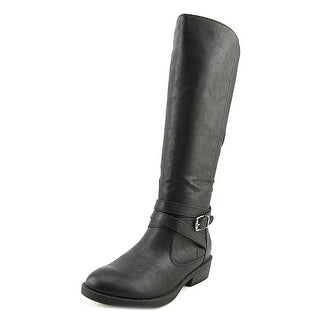 Baretraps Thunder Round Toe Synthetic Mid Calf Boot