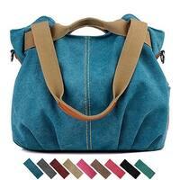 Women Soft Canvas Handbag Fashion Tote Bag in 9 Assorted Color